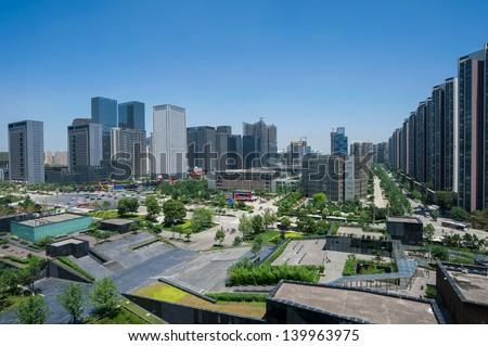 CBD in Chengdu - stock photo