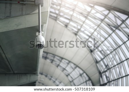 CCTV Camera hang on the roof