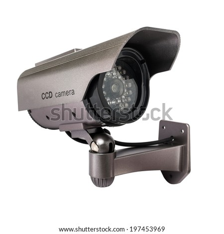 CCTV Camera of Surveillance isolate on white background - stock photo