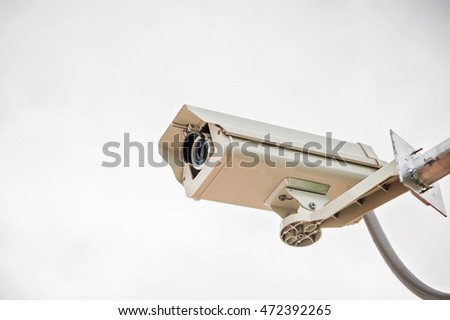 CCTV camera on a white background .