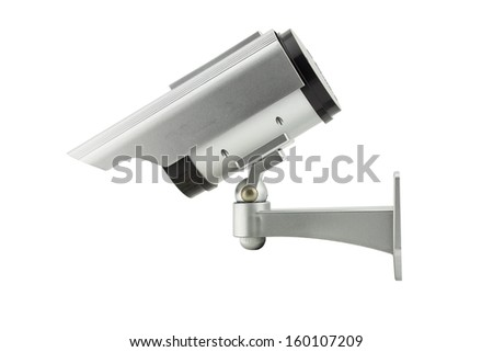cctv(closed circuit television) camera isolated on white background
