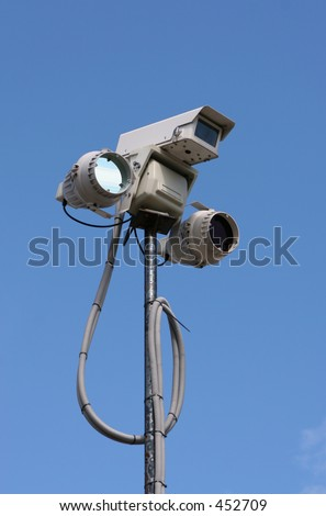 CCTV equipment with infra-red lighting