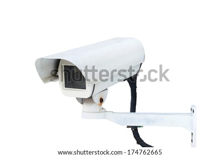 CCTV isolated on white background.