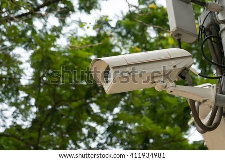 CCTV recording important events  - stock photo