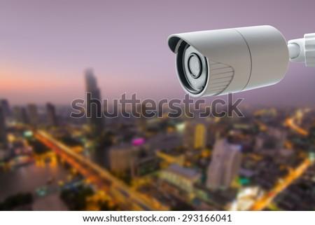 CCTV Security Camera - stock photo