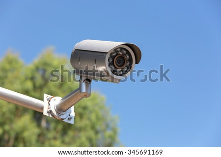 CCTV Security camera at public area.