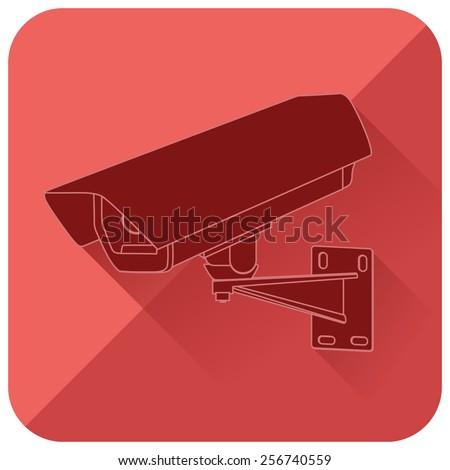 CCTV security camera - web icon.  - stock photo