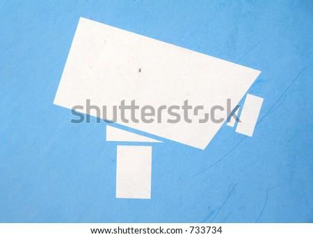 CCTV sign - stock photo