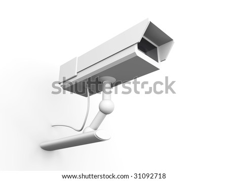 CCTV Surveillance Cam	 - stock photo