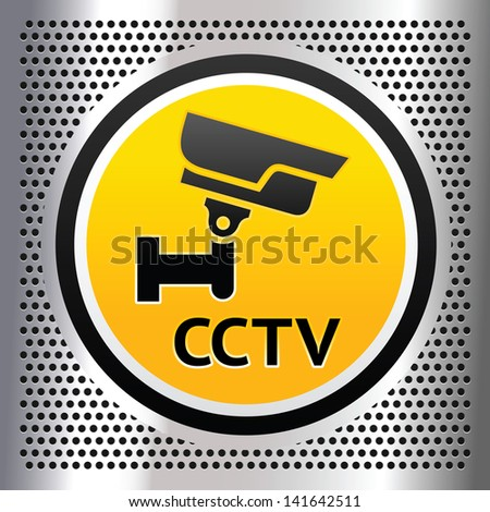 CCTV symbol on a chromium silver background