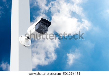 cctv systems On background sky