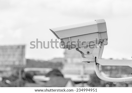CCTV video camera security system - stock photo