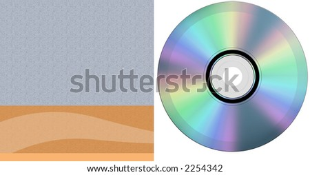 cd and case - stock photo