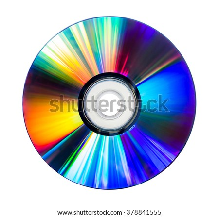 CD and DVD disk isolated on white - stock photo
