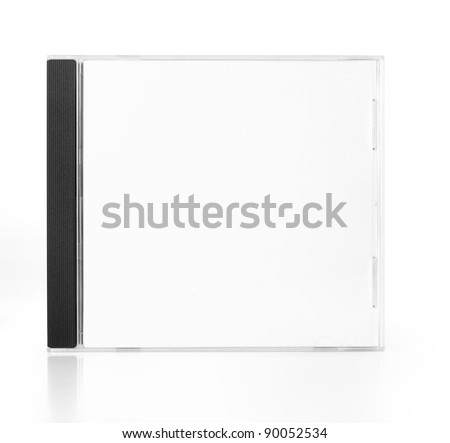CD Case In Front View isolated on white background - stock photo