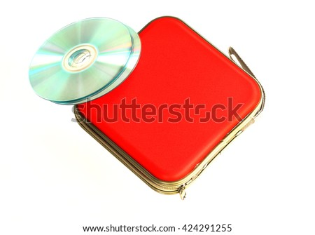 CD case isolated on white background - stock photo