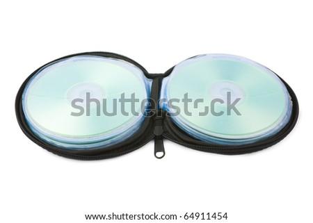 CD case isolated on white background - stock photo