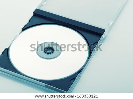CD Case Open  on white background - stock photo