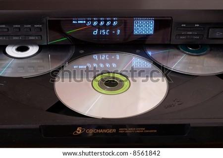 CD Changer - stock photo