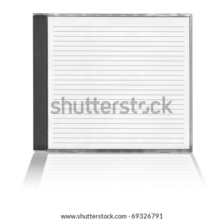 cd cover with reflection on white background - stock photo