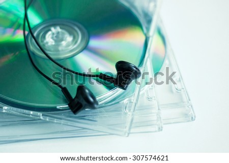 Cd disc for data storage - stock photo