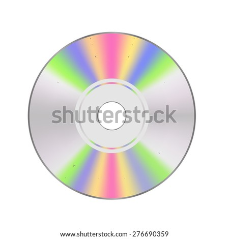 CD disc Isolated on White Background for Your Design. - stock photo