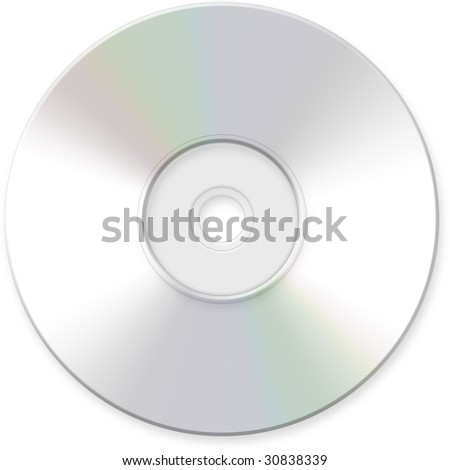 CD, DVD, Blank Optical Disk - stock photo