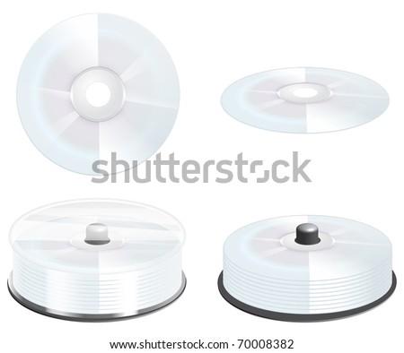 CD, DVD - BOX - stock photo