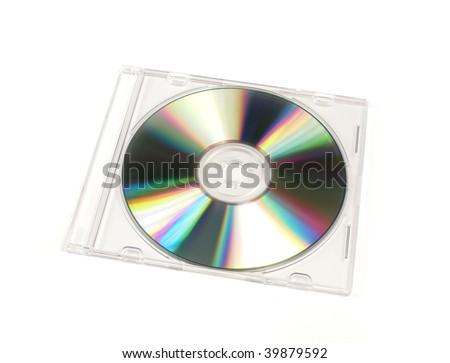 CD/DVD closed jewel case template - stock photo