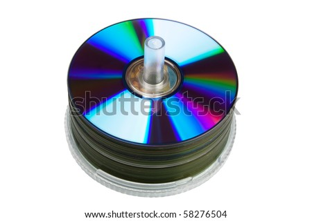 CD, DVD disc isolated on white background