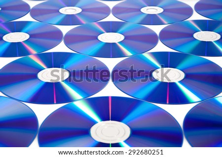 CD & DVD disk on white background - stock photo