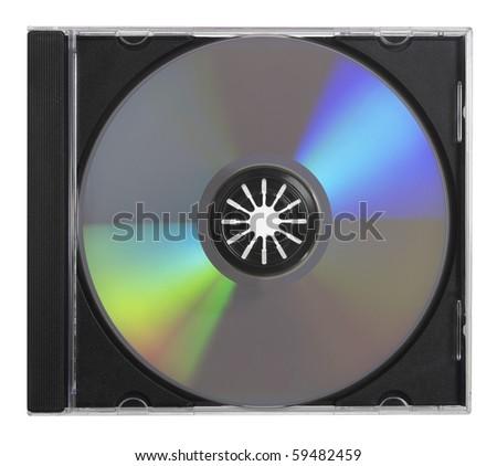 CD DVD in Case - stock photo