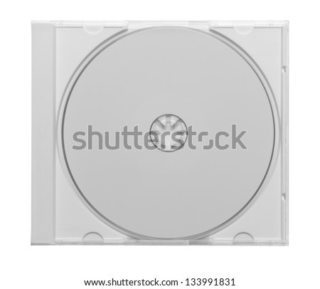 CD - DVD in plastic case isolated on white - stock photo