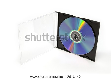 CD /DVD in the slim box - stock photo