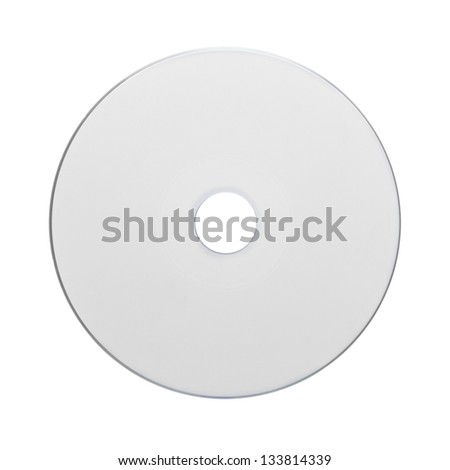 CD - DVD isolated on white - stock photo
