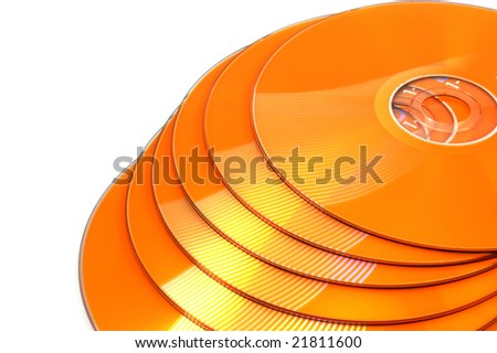 CD DVD isolated on white background - stock photo