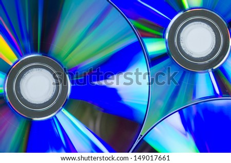CD dvd or compact disk on white background