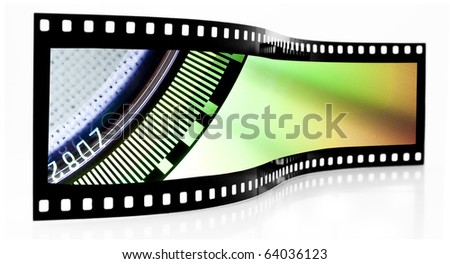 CD film strip - stock photo