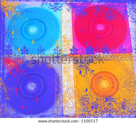 CD grunge - stock photo