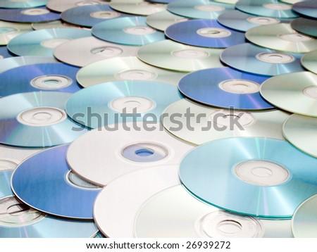 CD heap background. - stock photo