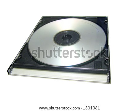 CD in a CD case on white background