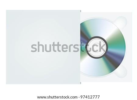 cd in package. raster version - stock photo