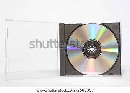 CD inside Case - stock photo