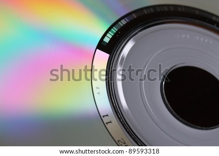 CD macro - stock photo