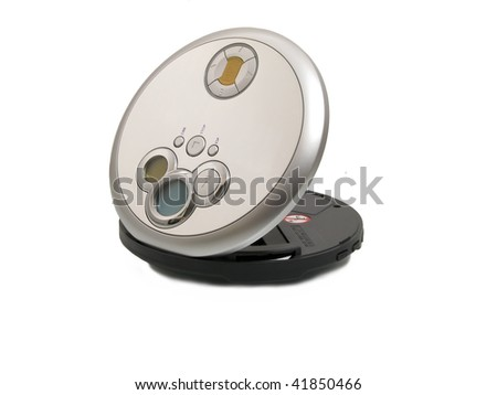 cd, mp3 player - stock photo