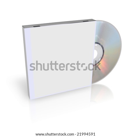 CD or DVD Box - stock photo