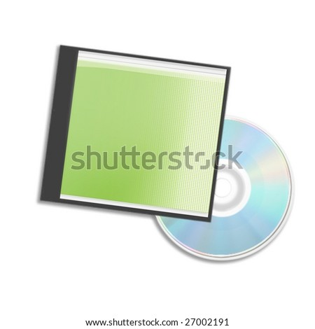 CD or DVD Box over white background