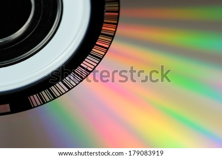CD or DVD Close-Up - stock photo