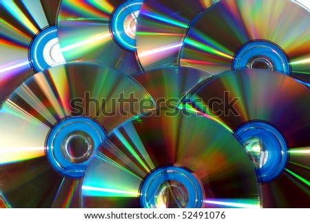 CD or DVD Disks - stock photo