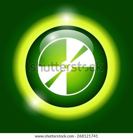 CD or DVD icon. Flat - stock photo